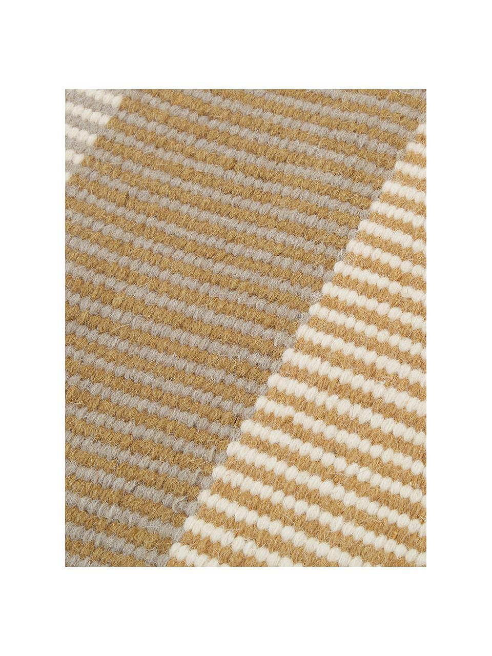 Gestreept handgeweven kelim vloerkleed Devise van wol, Multicolour, B 200 x L 300 cm (maat L)
