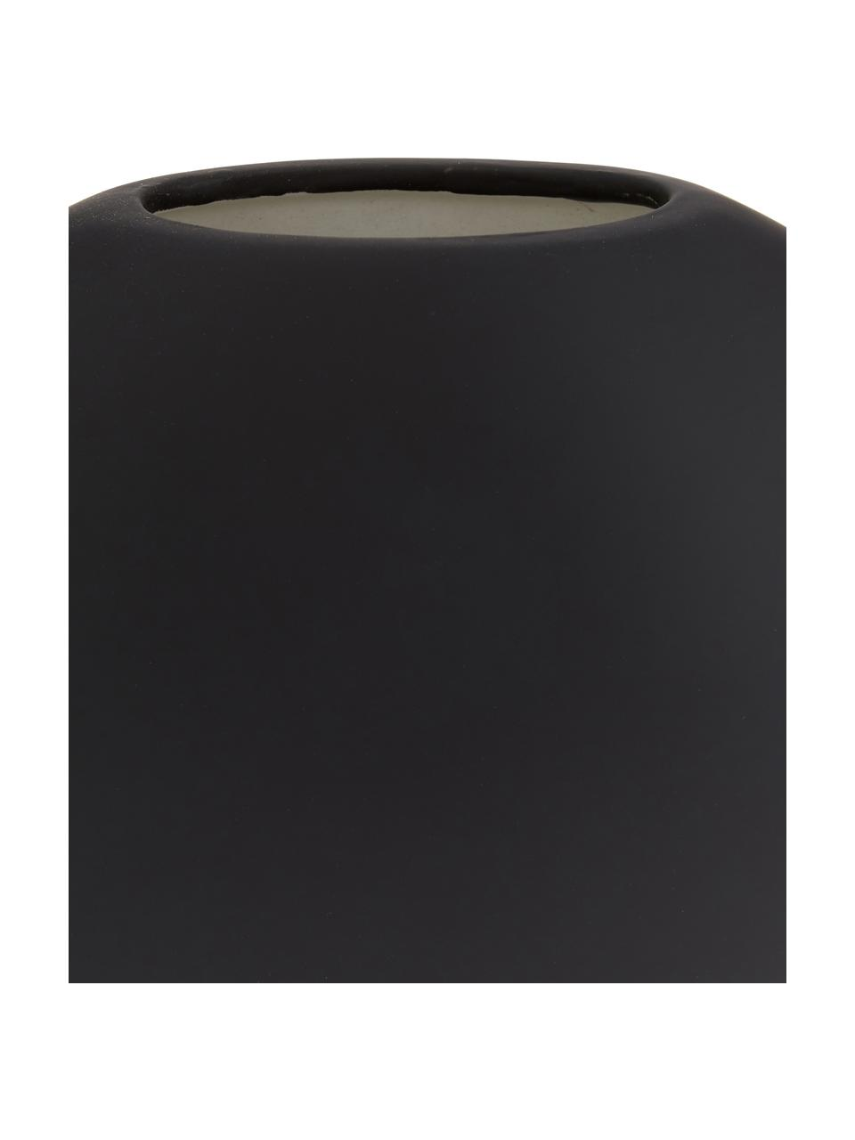 Vaso in ceramica fatto a mano Pastille, Ceramica, Nero, Larg. 20 x Alt. 19 cm