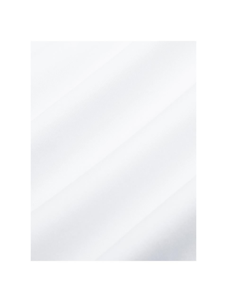 Prześcieradło z gumką z organicznej satyny bawełnianej Premium, Biały, S 160 x D 200 cm