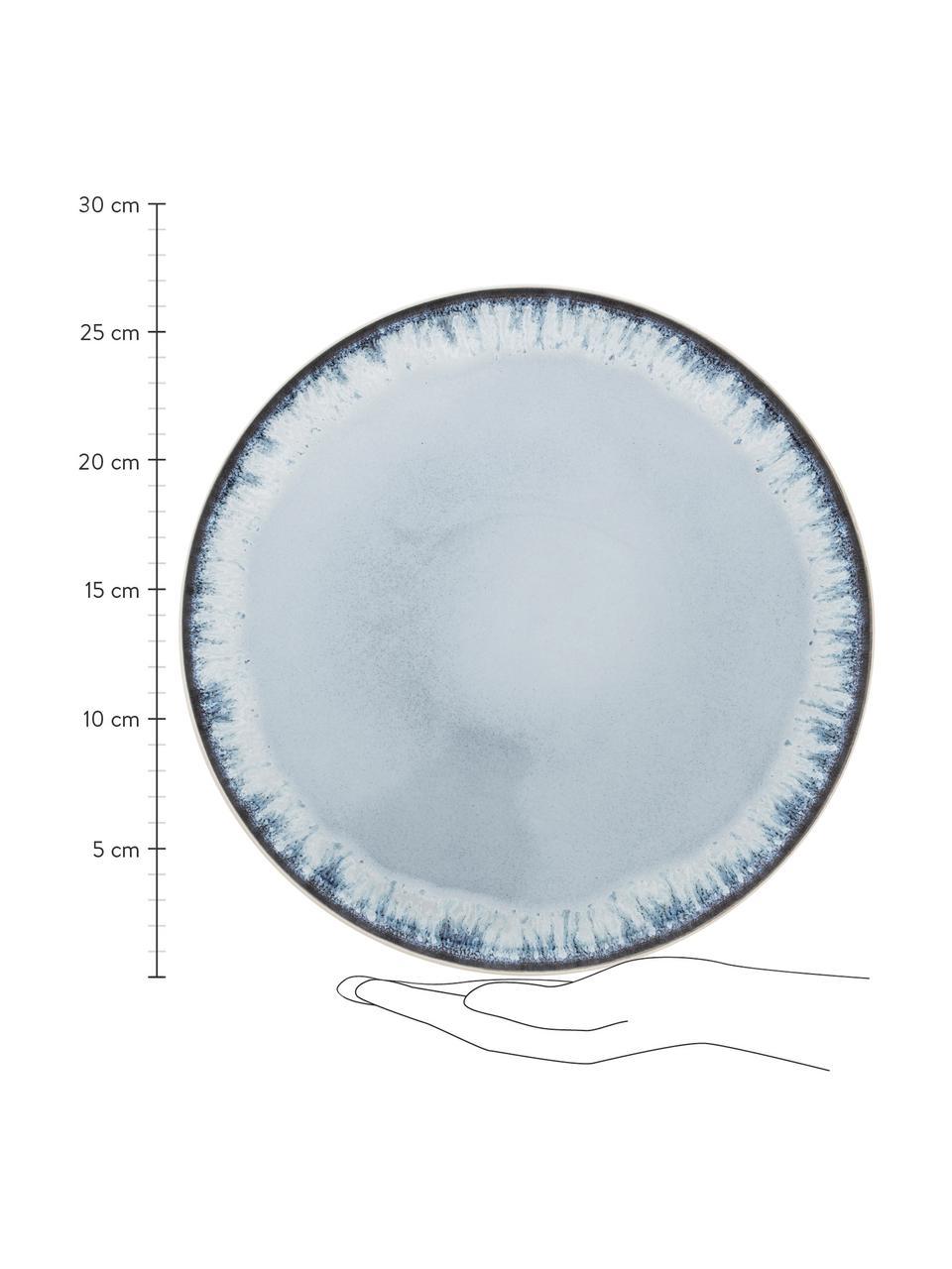 Talerz duży Inspiration, 2 szt., Kamionka, Niebieski, jasny beżowy, Ø 27 cm