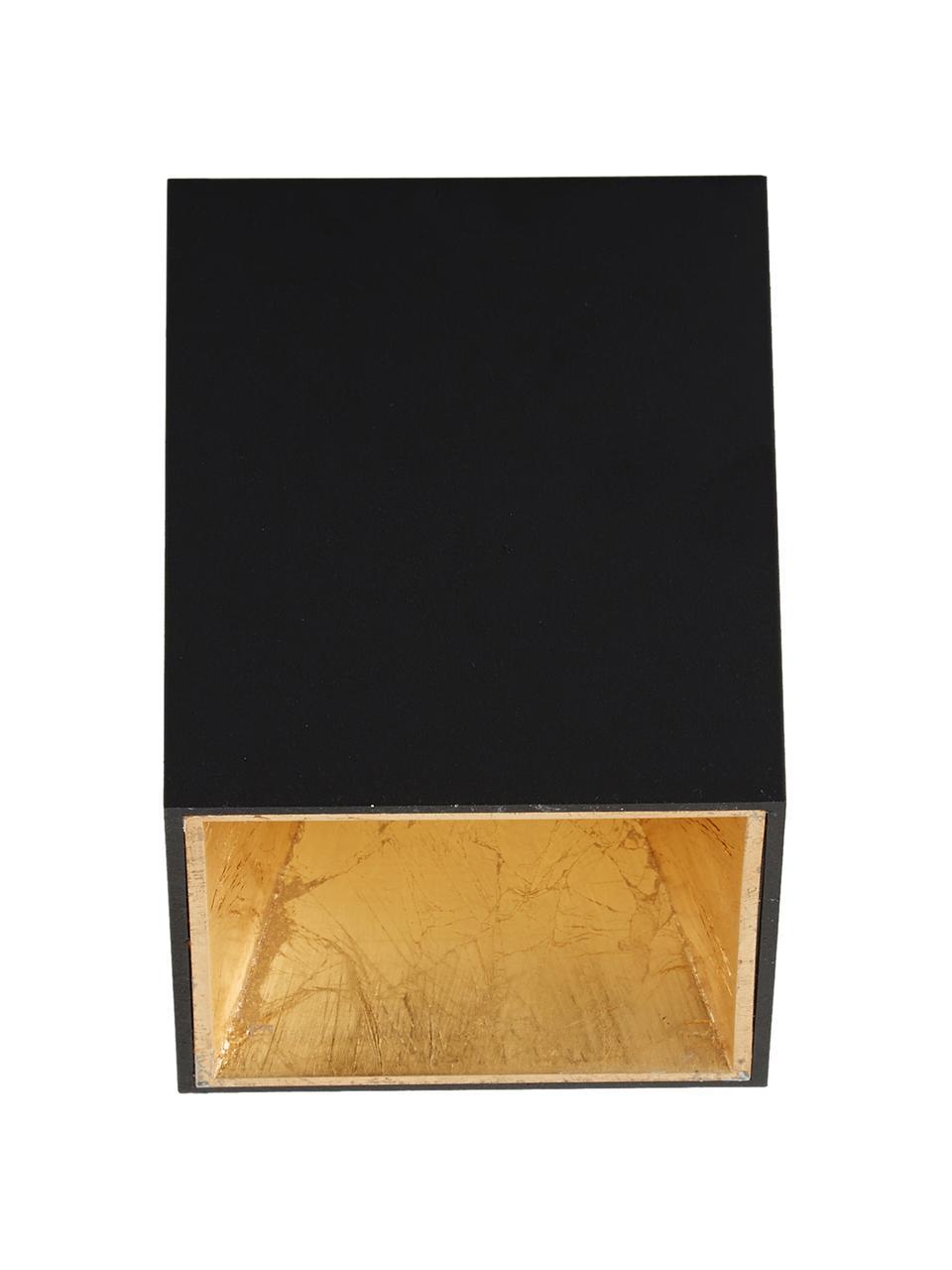 Faretto da soffitto a LED Marty, Nero, dorato, Larg. 10 x Alt. 12 cm
