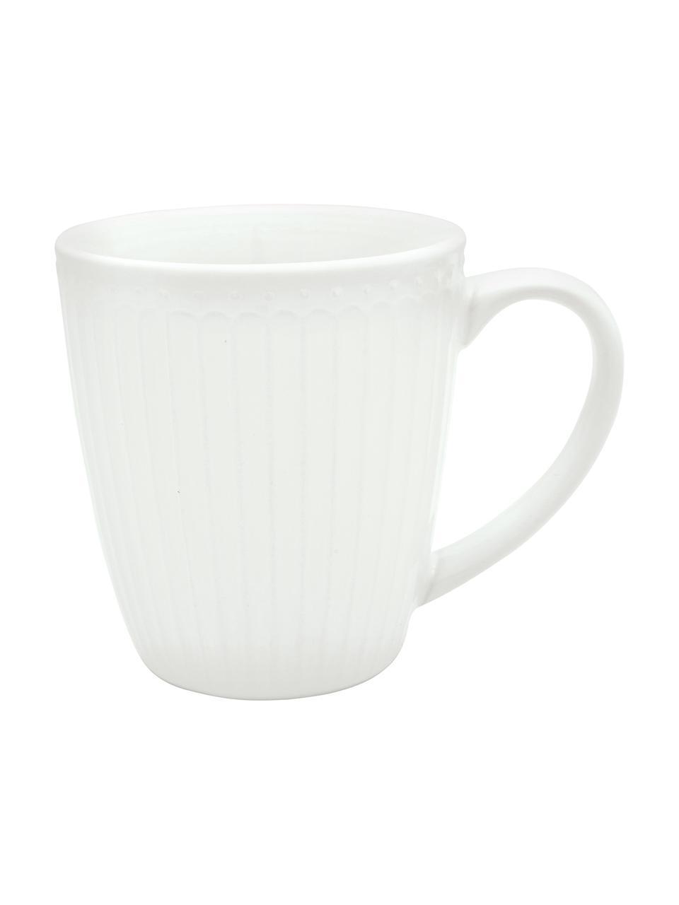 Tasse faite main porcelaine Alice, 2pièces, Blanc