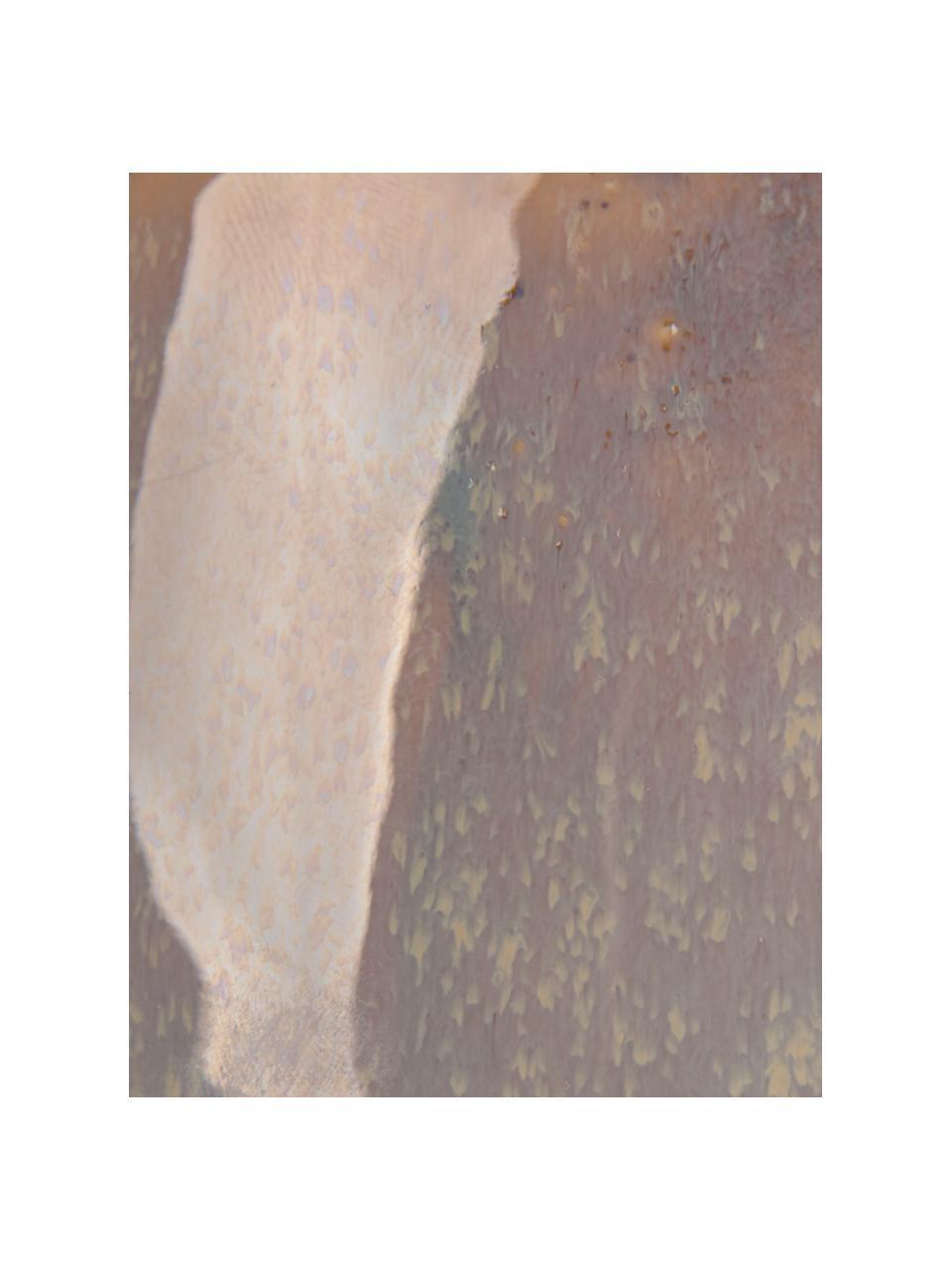 Macetero colgante Unique, Cerámica, Gris, beige, Ø 16 x Al 8 cm