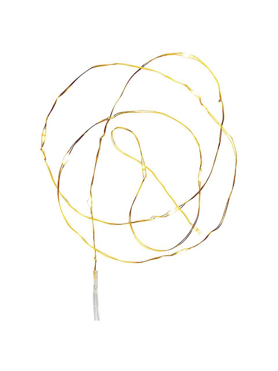 LED-Lichterkette Mini L 100 cm, Kunststoff, Kupferfarben, L 190 cm