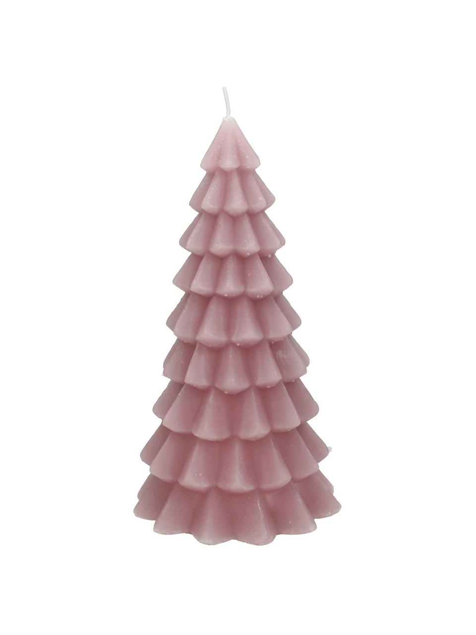 Kerze Christmas Tree, Paraffinwachs, Rosa, Ø 6 x H 12 cm