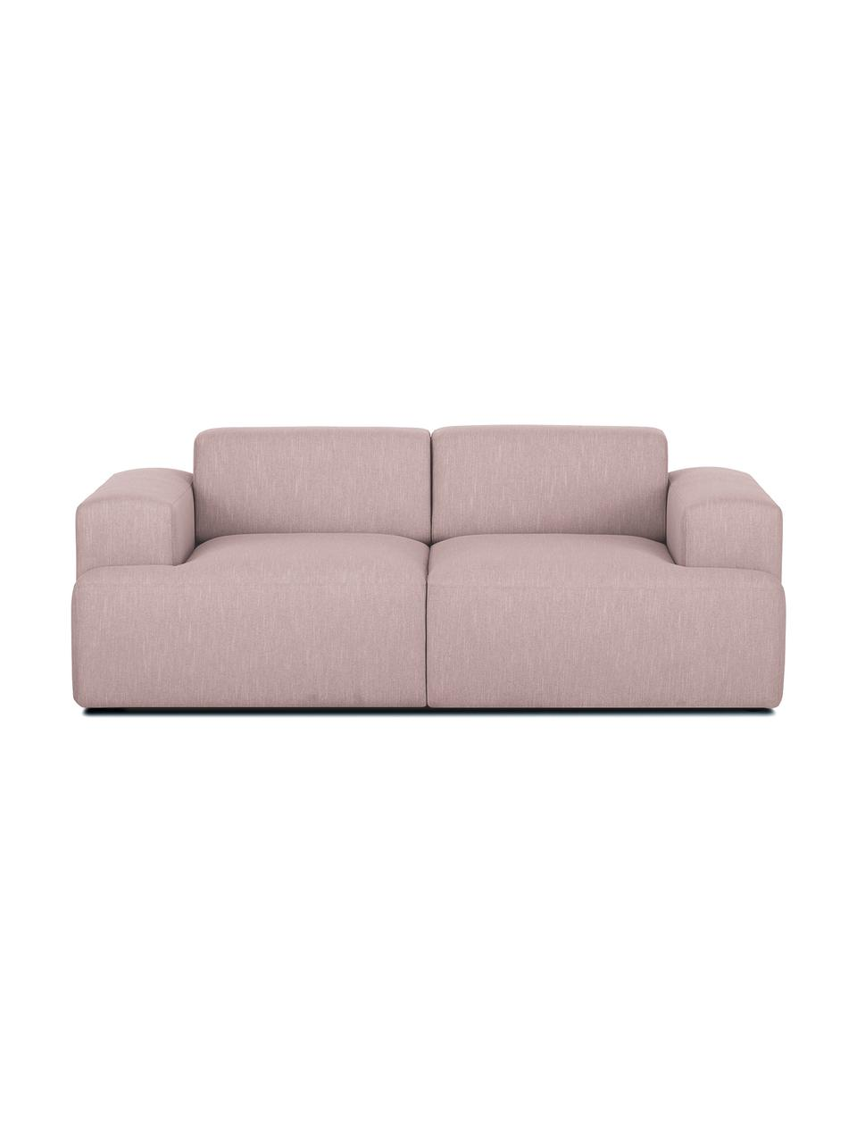 Sofa Melva (2-Sitzer) in Rosa, Bezug: Polyester Der hochwertige, Gestell: Massives Kiefernholz, Spa, Füße: Kiefernholz Die Füße befi, Webstoff Rosa, B 200 x T 101 cm
