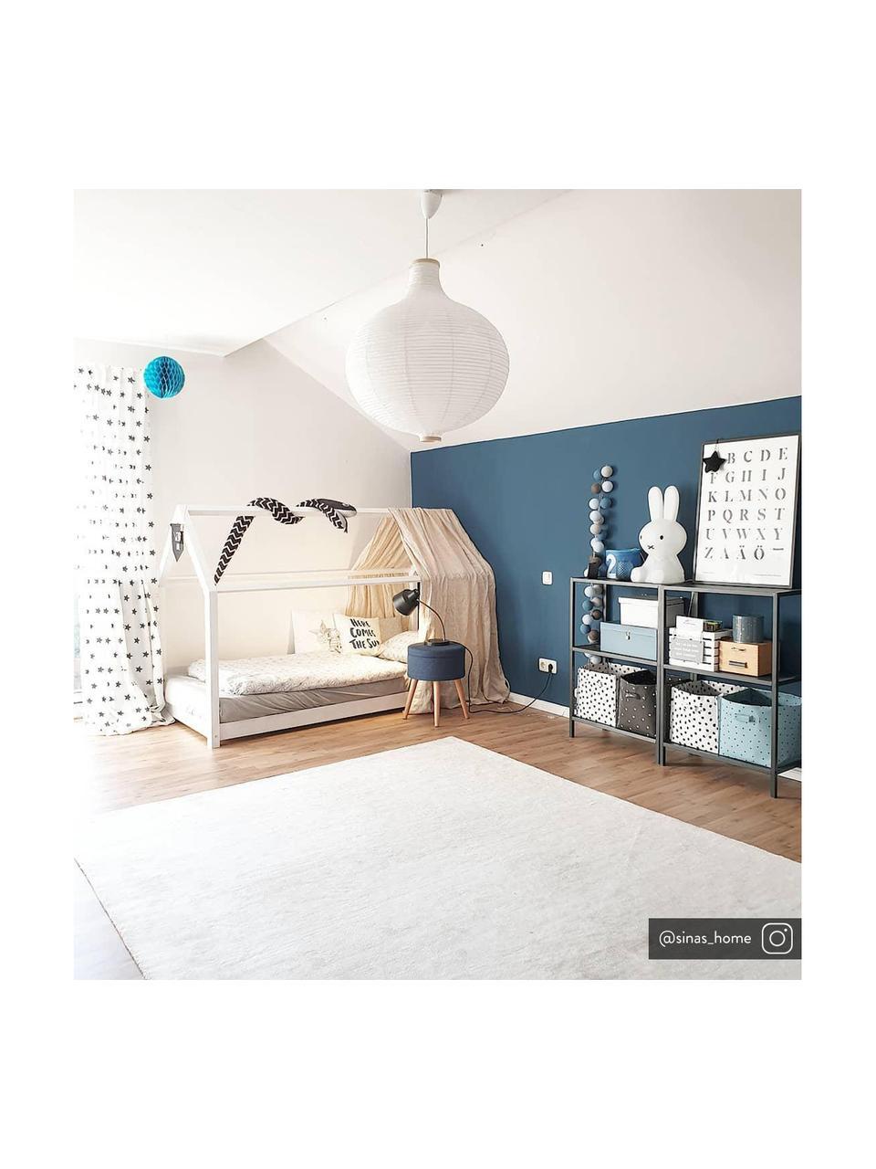 LED-Lichterkette Bellin, 320 cm, 20 Lampions, Lampions: Baumwolle, Blau, Hellblau, Dunkelblau, Weiß, L 320 cm