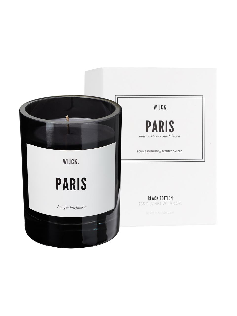 Candela profumata Paris (bergamotto, rose e muschio), Contenitore: vetro soffiato, Bergamotto, rose & muschio, Ø 8 x A 11 cm