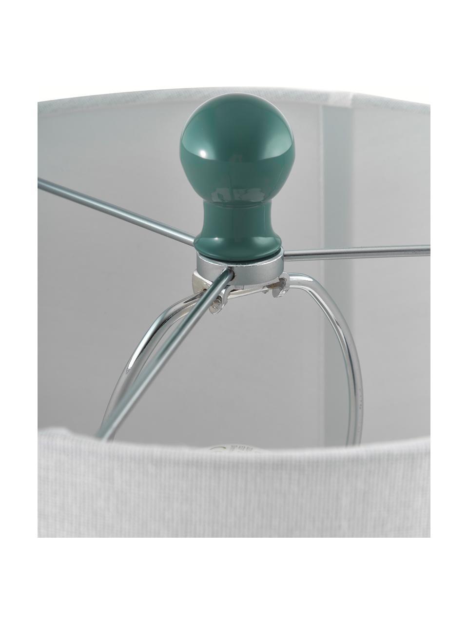 Große Tischlampen Felicitas, 2 Stück, Lampenschirm: Baumwolle, Lampenfuß: Glas, lackiert, Sockel: Metall, Grün, Ø 35 x H 58 cm