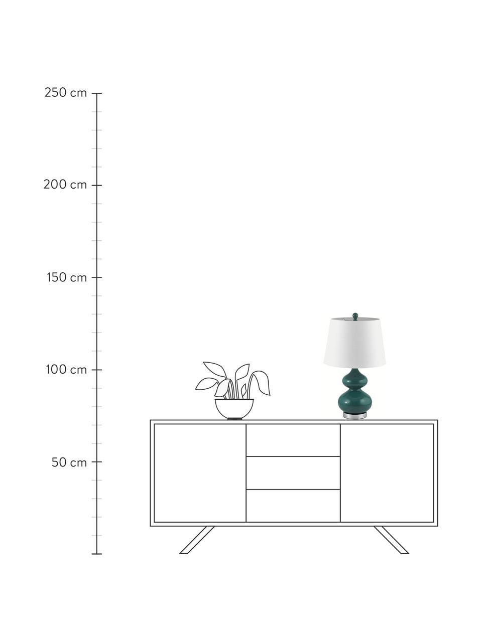 Lampa stołowa Felicitas, 2 szt., Zielony, Ø 35 x W 58 cm