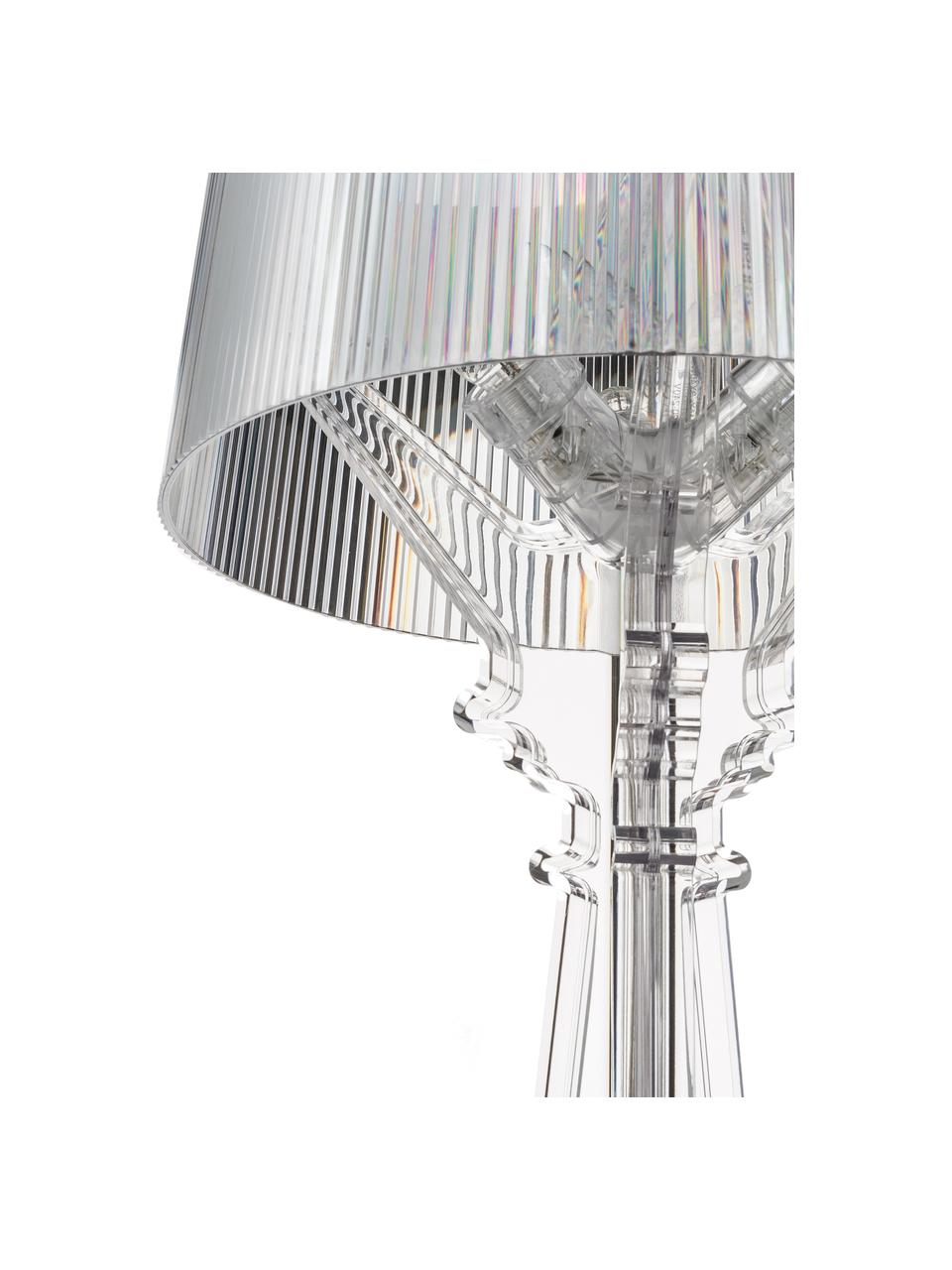 Große Design Tischlampe Bourgie, Lampenschirm: Polykarbonat, Lampenfuß: Polykarbonat, Transparent, Ø 37 x H 78 cm
