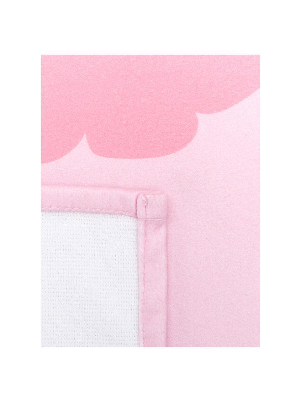 Leichtes Strandtuch Sebastian mit Hummer Motiv, 55% Polyester, 45% Baumwolle Sehr leichte Qualität, 340 g/m², Rosa, Rot, 70 x 150 cm