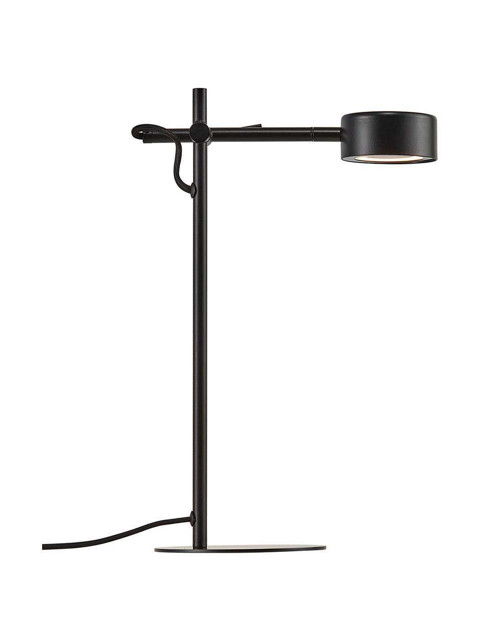 Dimmbare LED-Schreibtischlampe Clyde, Schwarz, 15 x 41 cm
