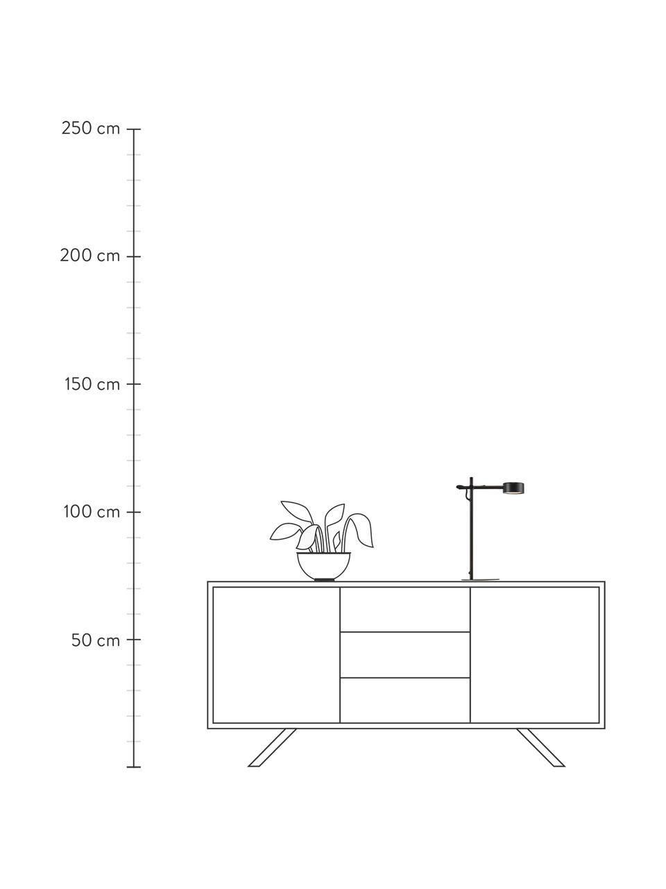 Lampa biurkowa LED z funkcją przyciemniania Clyde, Czarny, S 15 x W 41 cm