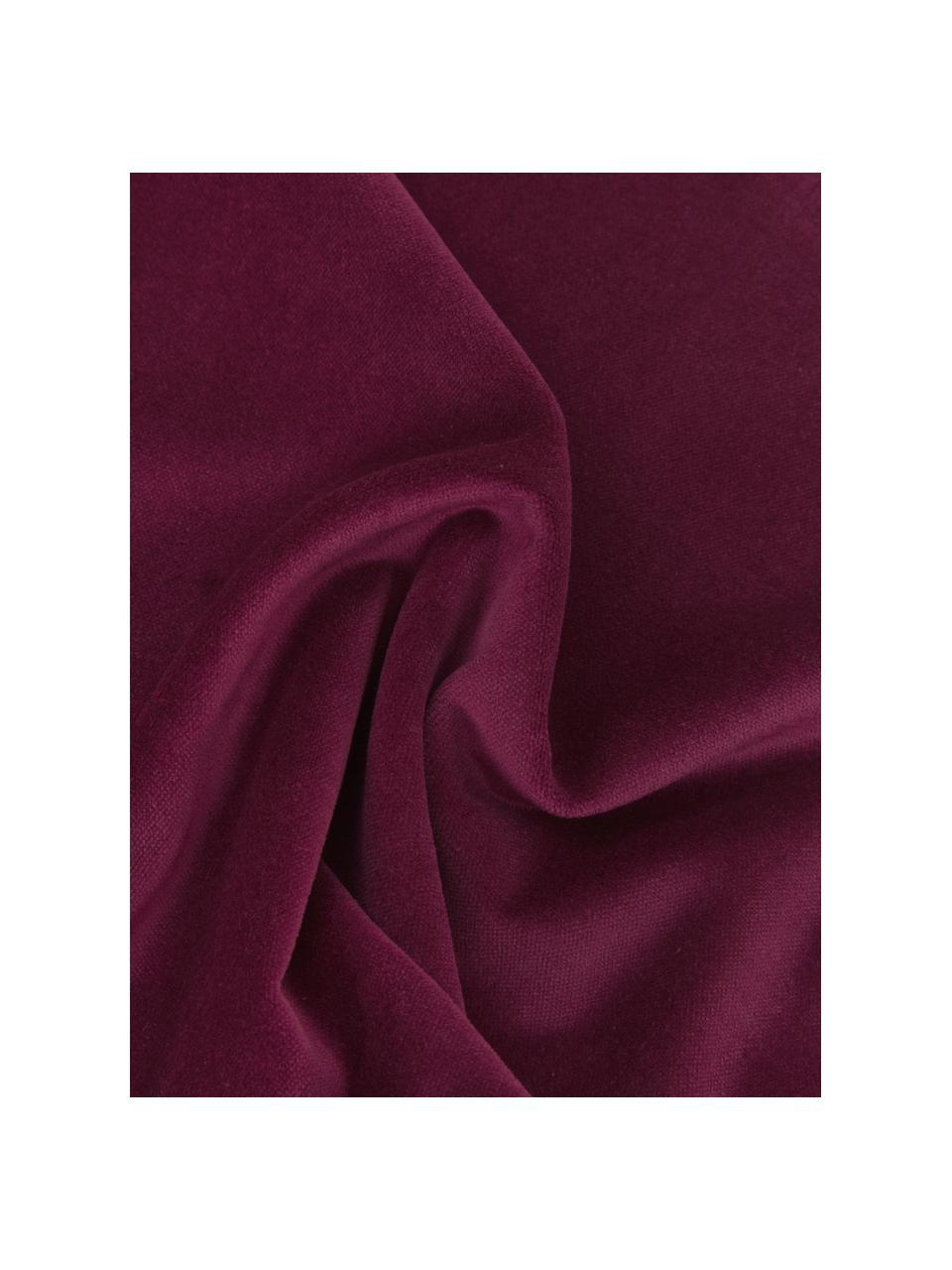 Einfarbige Samt-Kissenhülle Dana in Weinrot, 100% Baumwollsamt, Weinrot, 30 x 50 cm