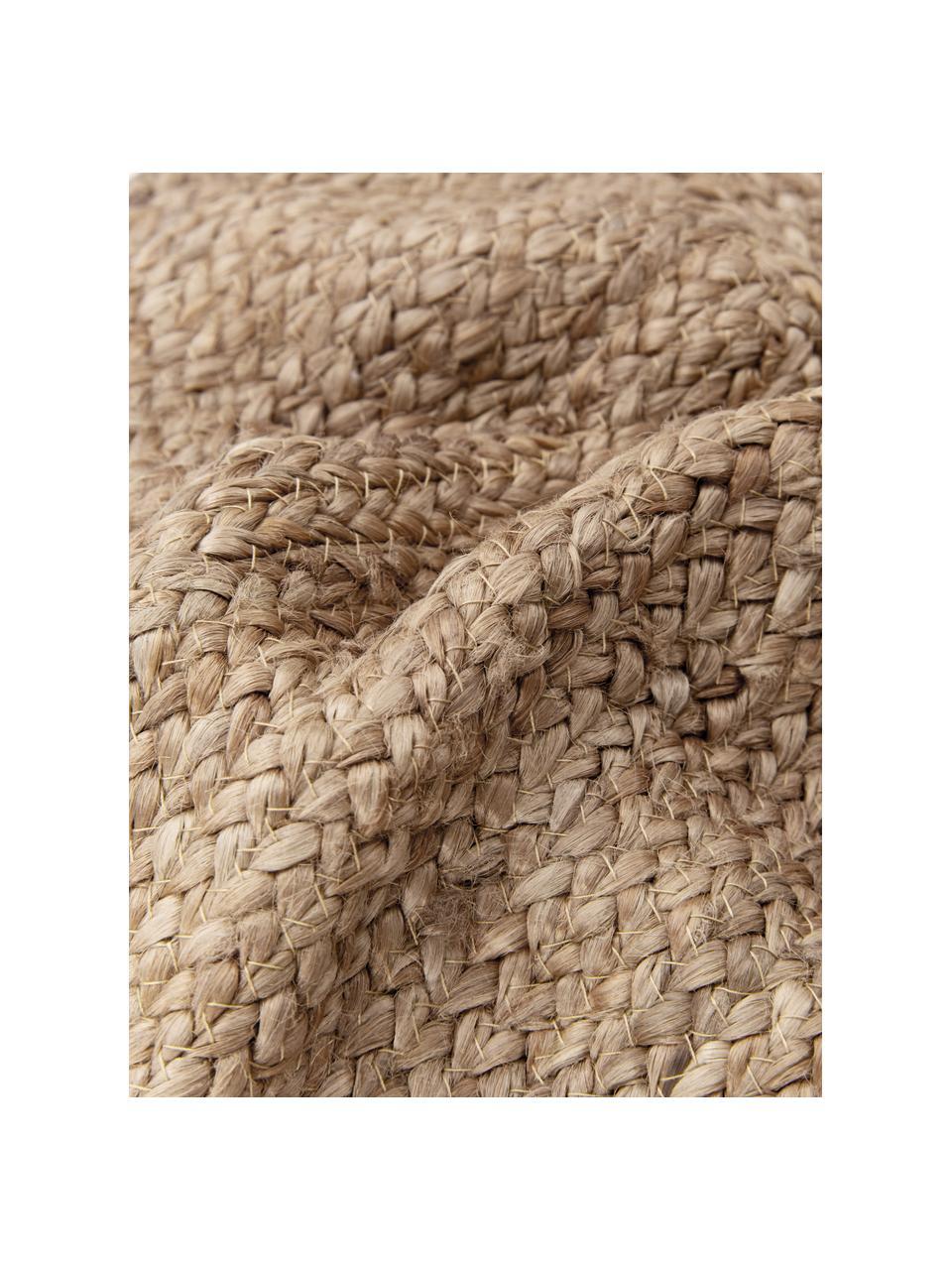 Federa arredo in juta con nappe Jerome, Retro: 100% cotone, Beige, bianco, Larg. 40 x Lung. 40 cm