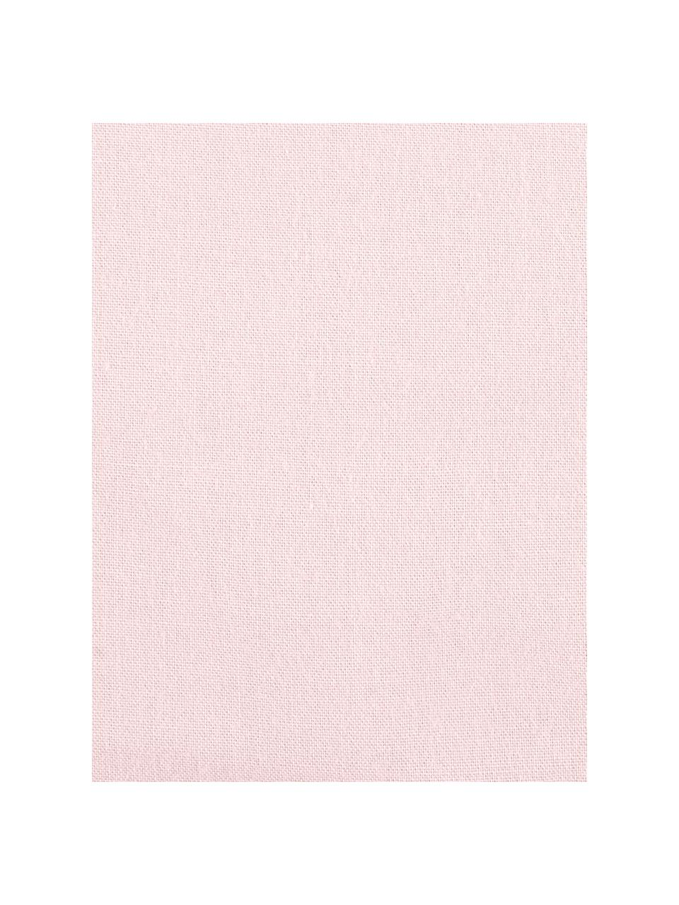 Gewaschene Baumwoll-Bettwäsche Florence mit Rüschen, Webart: Perkal Fadendichte 180 TC, Rosa, 135 x 200 cm + 1 Kissen 80 x 80 cm