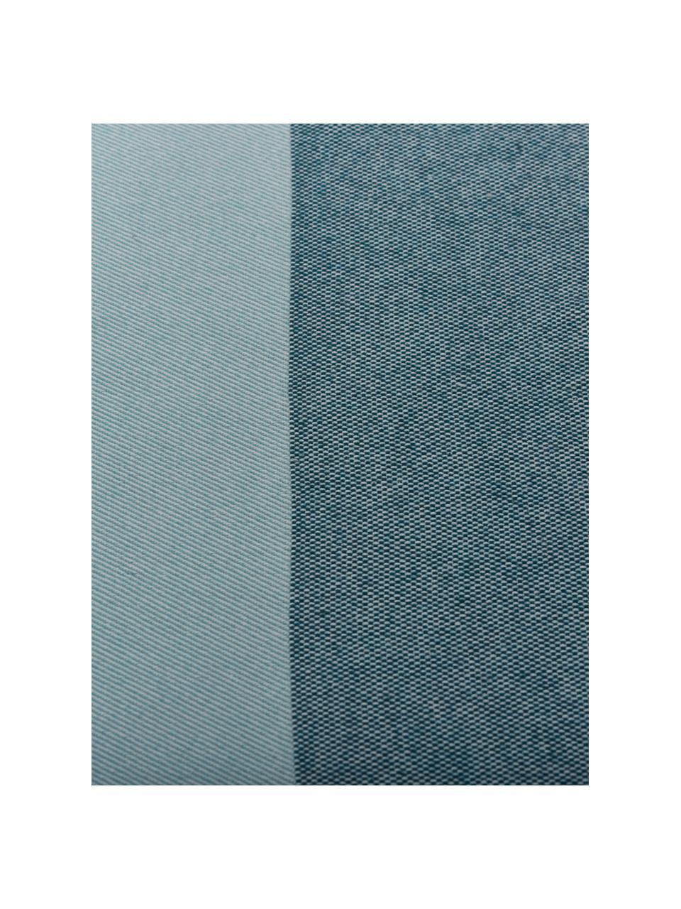 Pled Stripes, 50% bawełna, 50% poliakryl, Odcienie niebieskiego, S 150 x D 200 cm