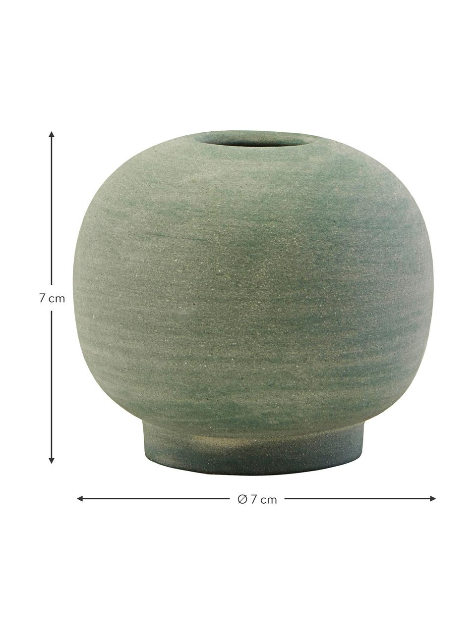 Vaso decorativo in gres fatto a mano Bobbles, Gres, Verde, Ø 7 x Alt. 7 cm