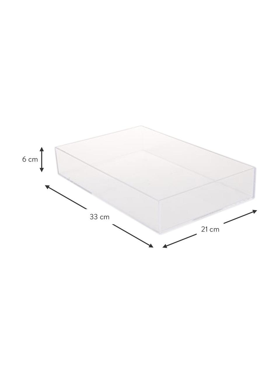 Tablett Clear, Acryl, Transparent, 21 x 33 cm