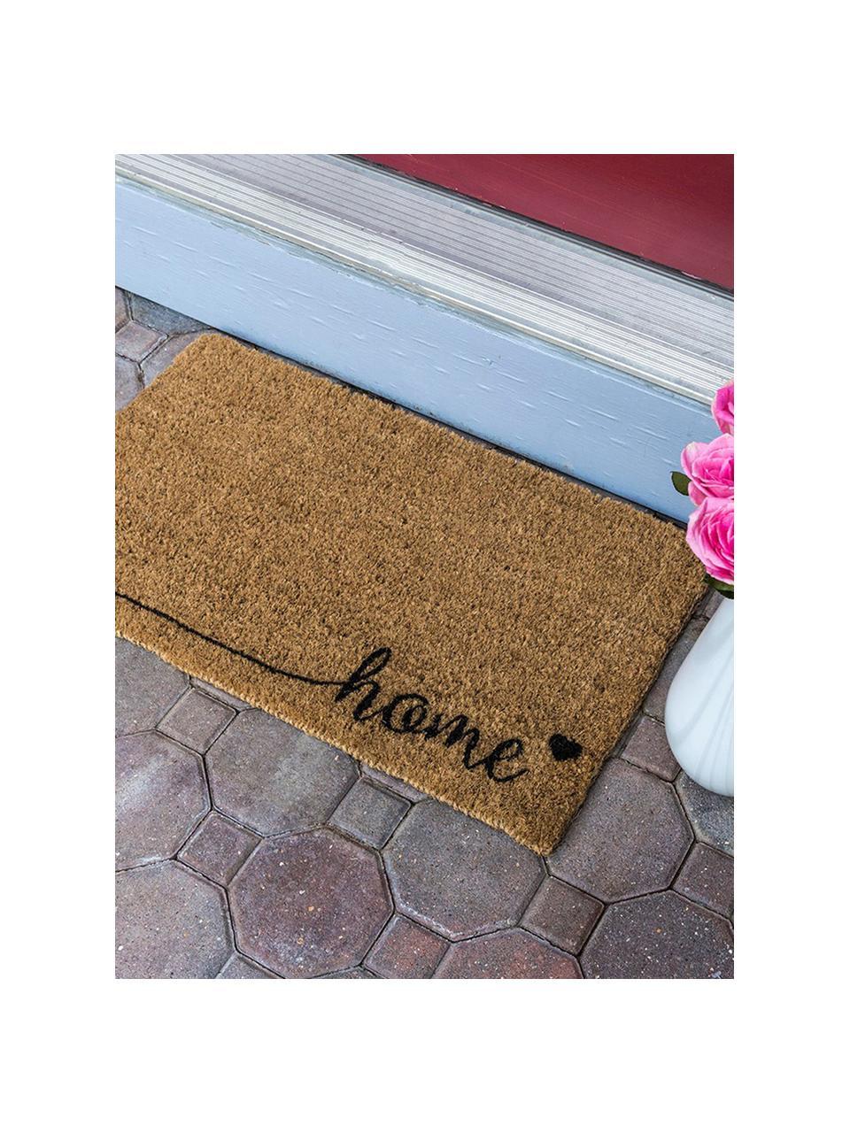 Fußmatte Just For Your Home, Oberseite: Kokosfaser, Unterseite: Kunststoff (PVC), Braun, Schwarz, 40 x 60 cm