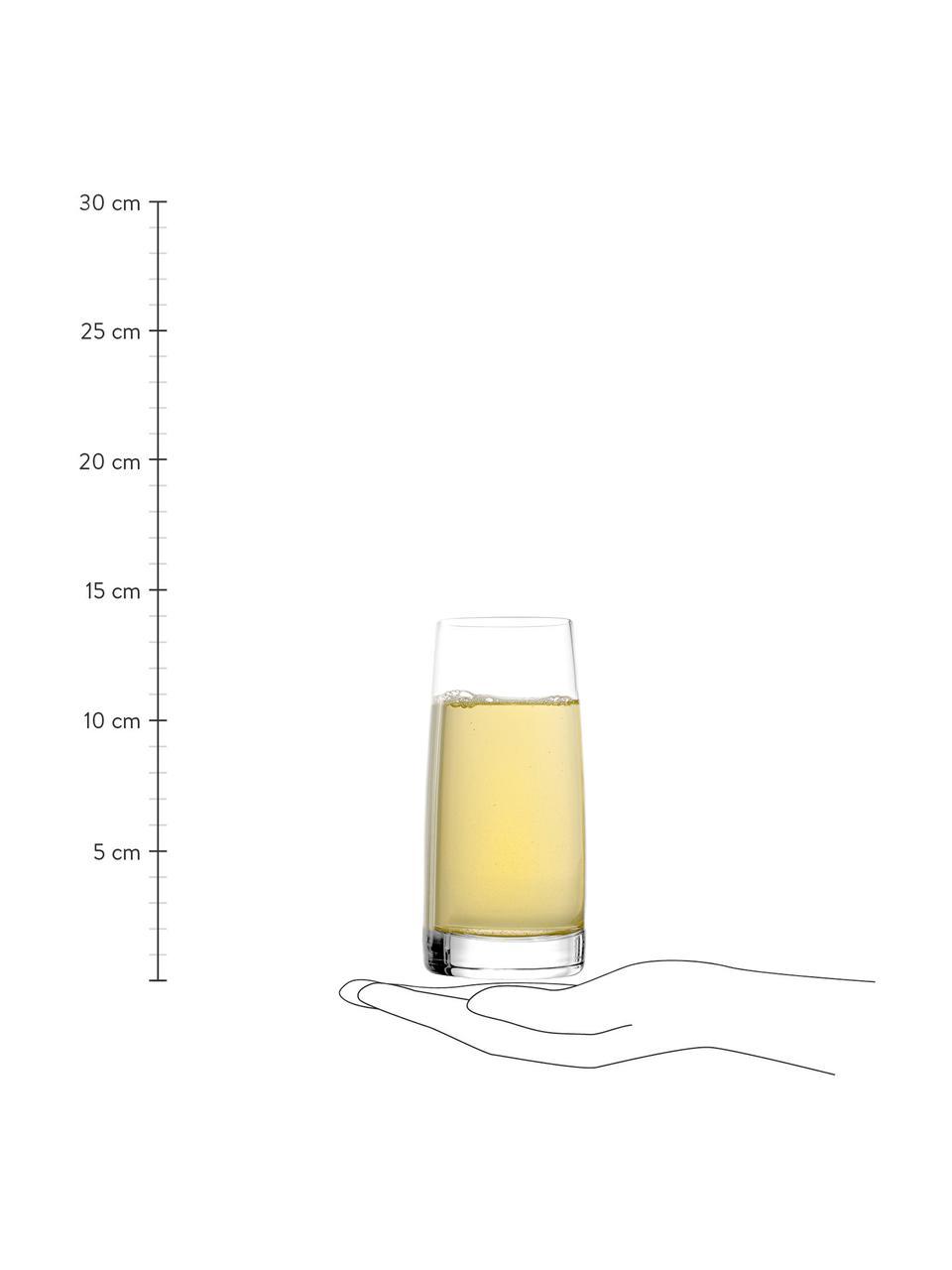 Hohe Kristallgläser Experience, 6 Stück, Kristallglas, Transparent, Ø 7 x H 14 cm
