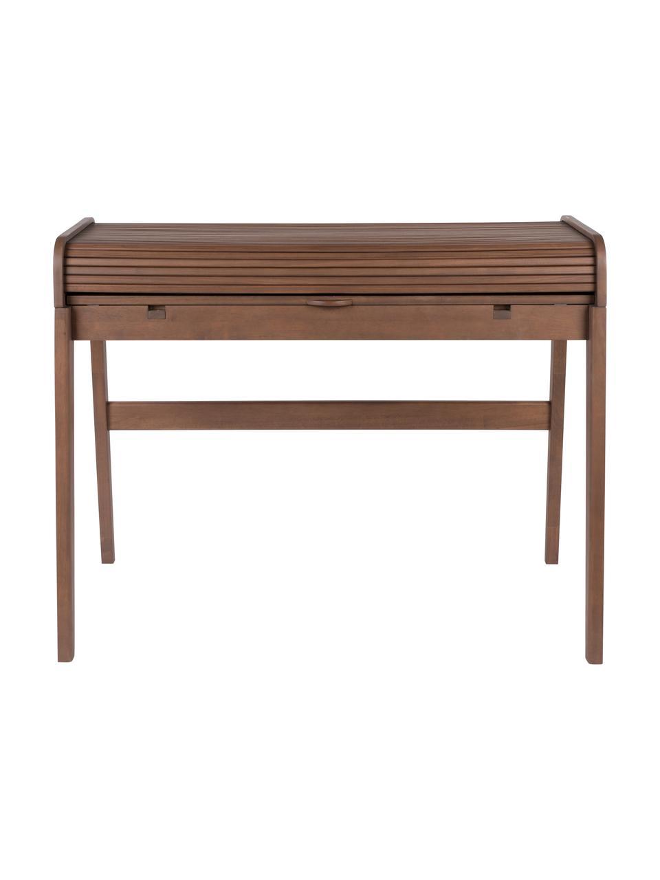 Scrivania in legno Barbier, Marrone, legno di noce, Larg. 110 x Alt. 85 cm