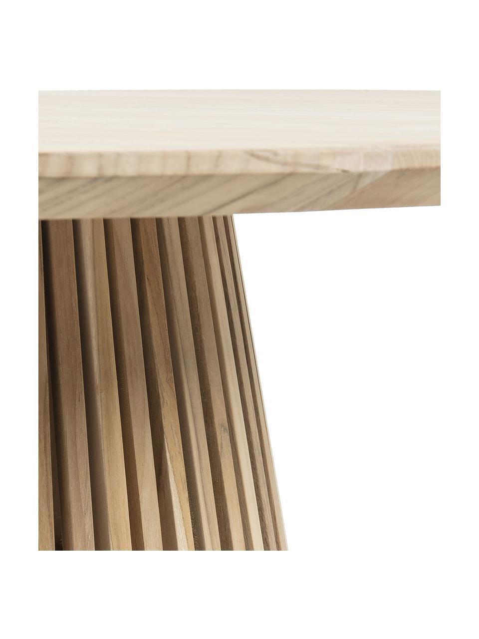 Runder Esstisch Jeanette mit Massivholzplatte, Ø 120 cm, Teakholz, naturbelassen, Teakholz, Ø 120 x H 78 cm