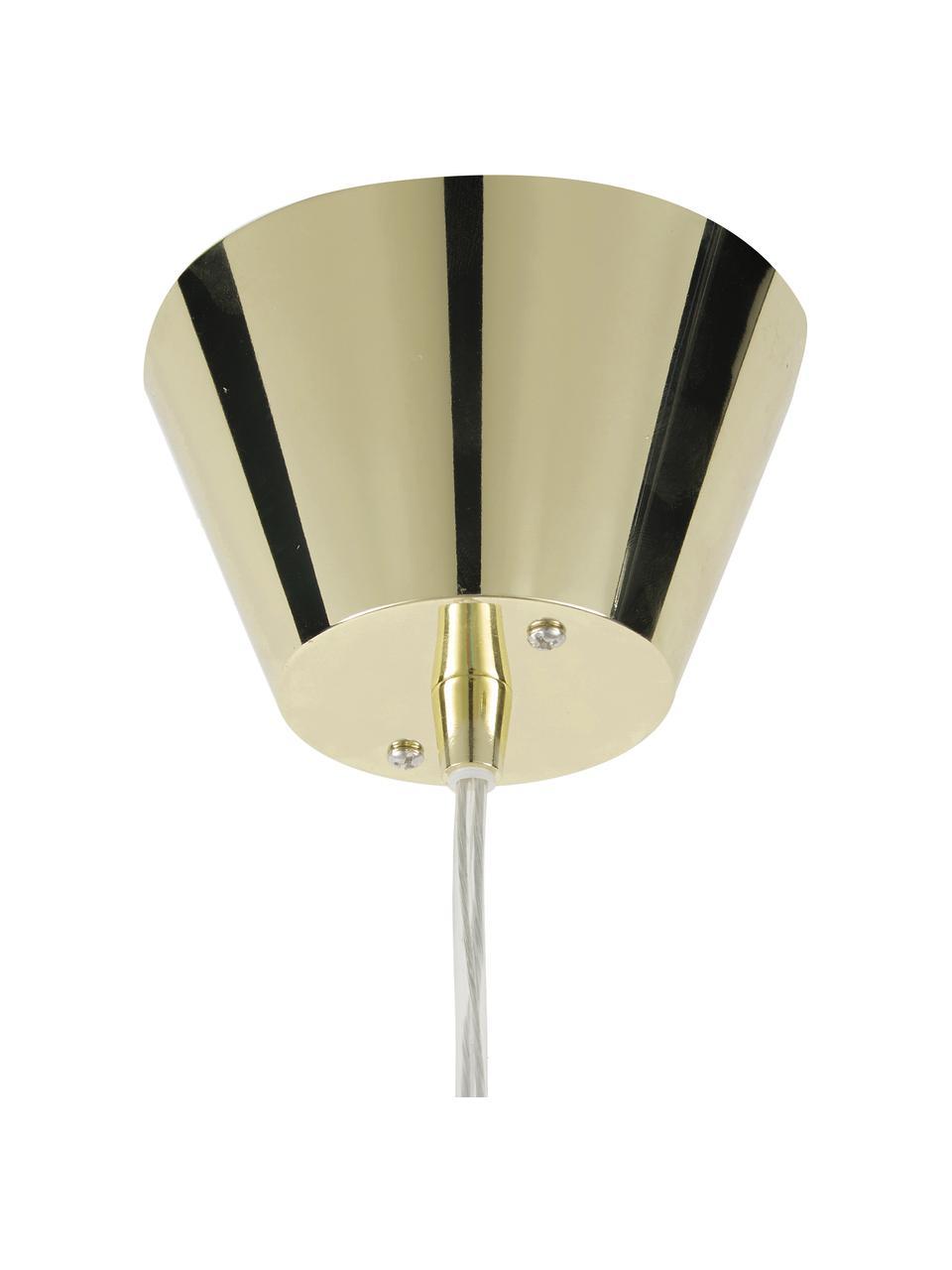 Lampada a sospensione di design Gatsby, Paralume: metallo, Baldacchino: metallo, Ottone, Ø 18 x Alt. 22 cm