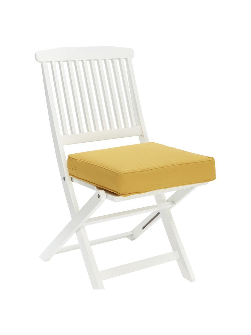 Cuscino sedia alto giallo Zoey, Rivestimento: 100% cotone, Giallo, Larg. 40 x Lung. 40 cm
