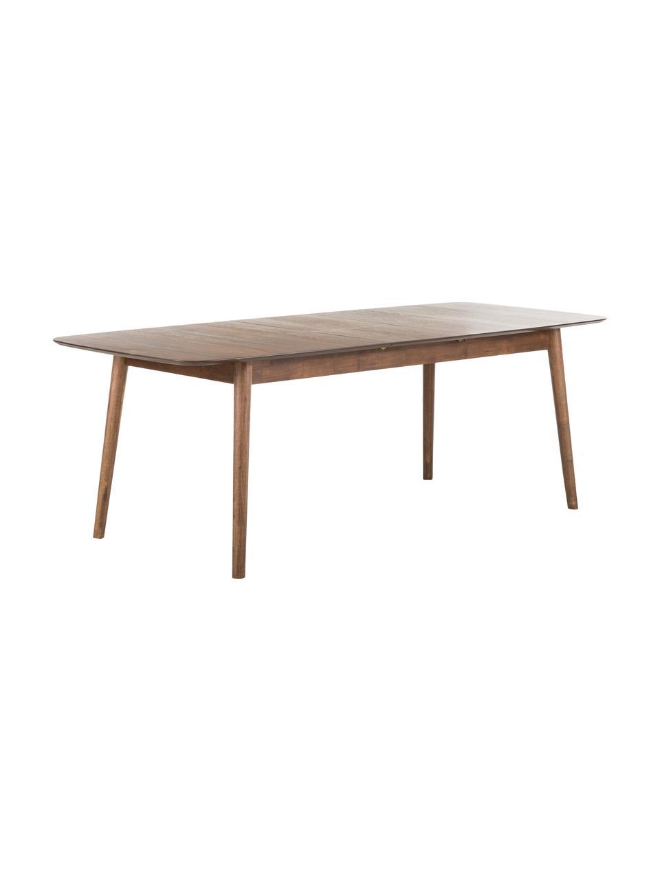 Table extensible bois Montreux, 180 - 220 x 90 cm, Plateau: noyer Pieds: teinté brun foncé