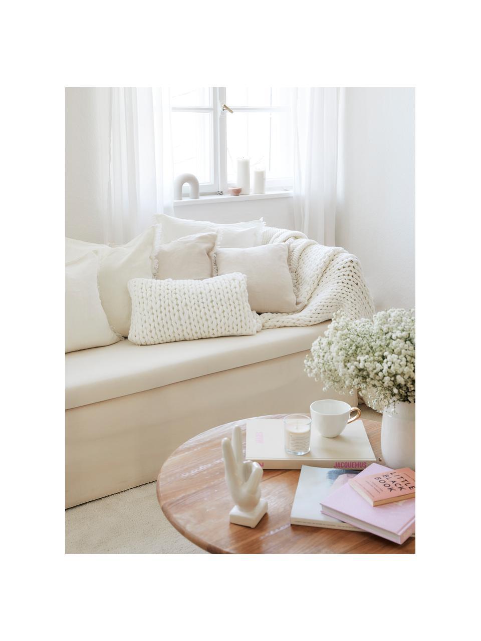 Tasse Good Morning in Weiß mit goldfarbenem Griff, Steingut, Weiß, Goldfarben, Ø 11 x H 8 cm