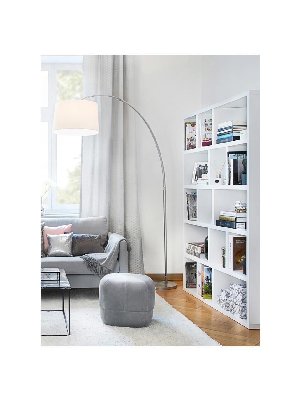 Libreria grande in legno bianco Portlyn, Rivestimento: pannello di fibra a media, Superficie: strato melaminico, Bianco opaco, Larg. 150 x Alt. 198 cm
