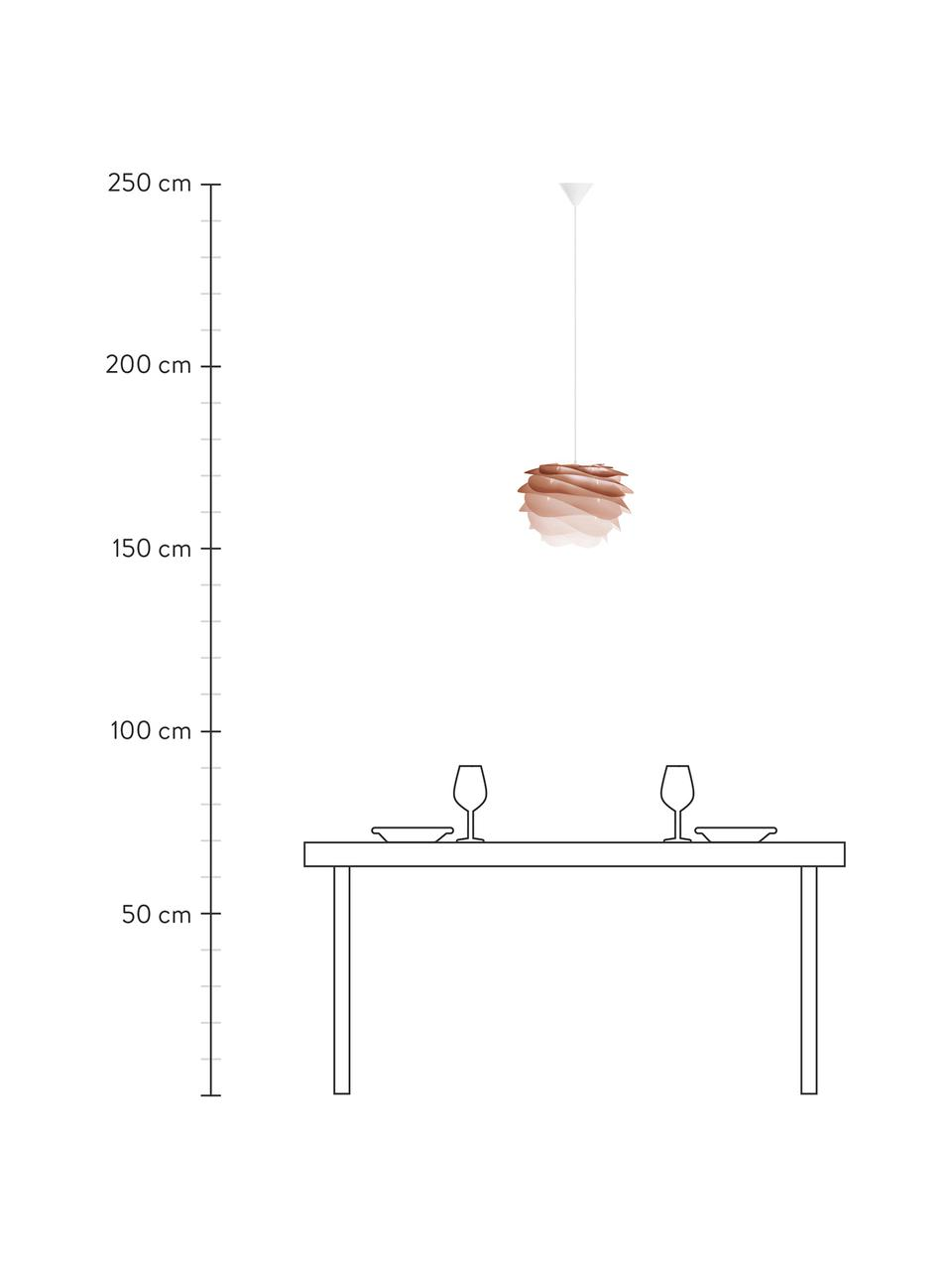 Pendelleuchte Carmina Mini, Bausatz, Lampenschirm: Polycarbonat, Polypropyle, Baldachin: Polypropylen, Terrakotta, Ø 32 x H 22 cm