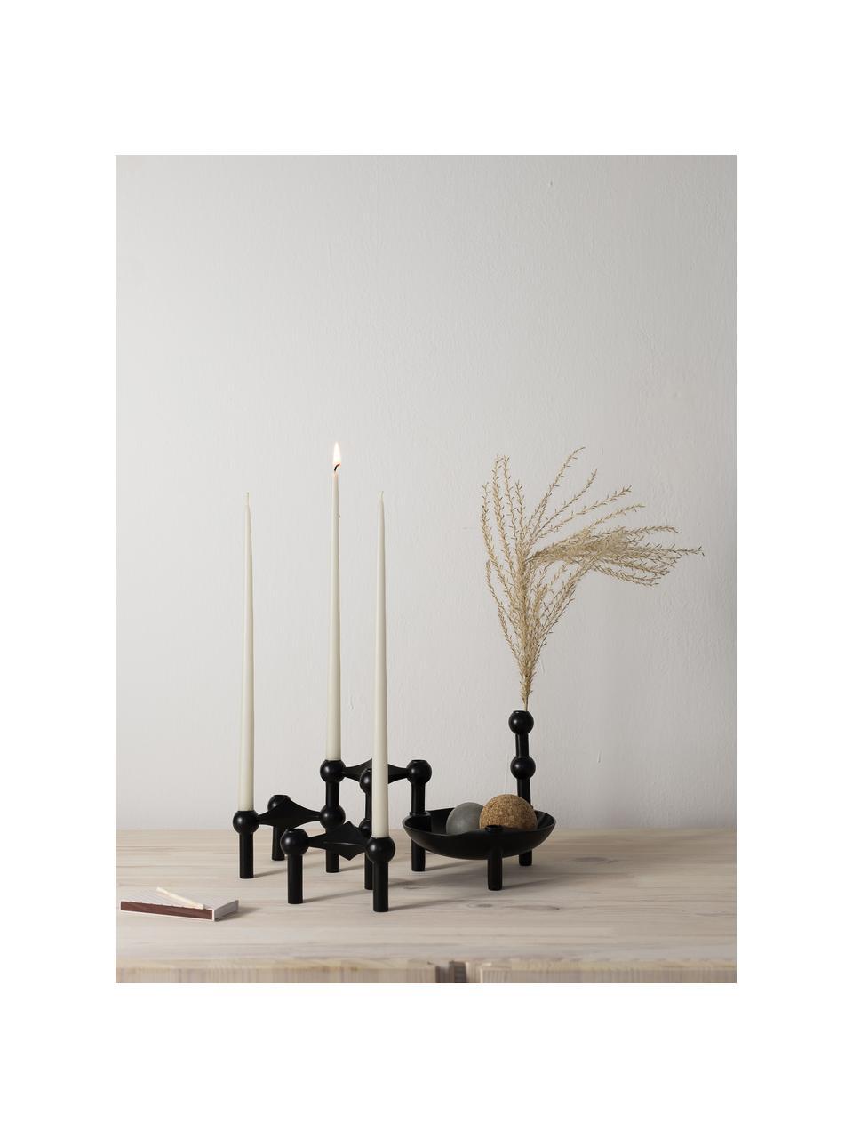 Świecznik Stoff Nagel, Metal powlekany, Czarny, Ø 3 x W 10 cm