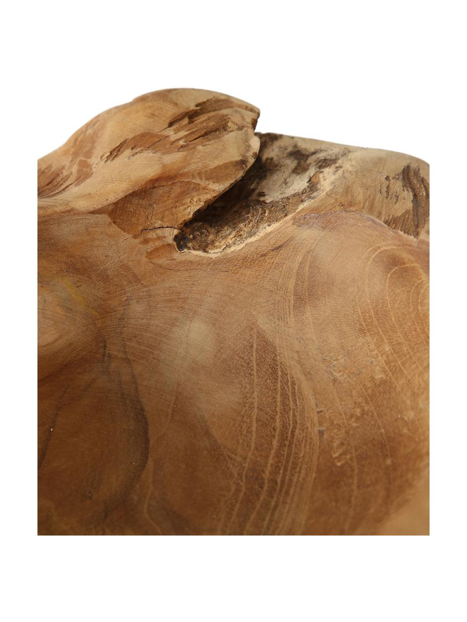 Deko-Schale Teak, Teakholz, Braun, Ø 25 x H 6 cm