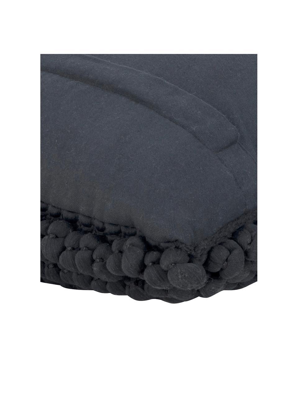 Poszewka na poduszkę z widoczną strukturą Iona, Czarny, S 45 x D 45 cm