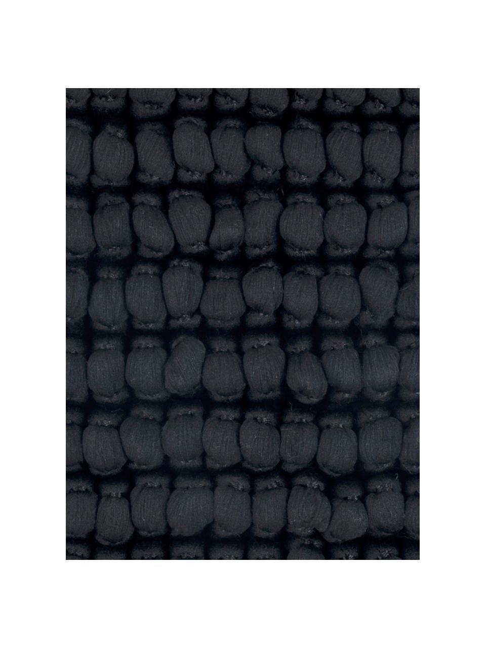 Federa arredo color nera Iona, Retro: cotone, Nero, Larg. 45 x Lung. 45 cm