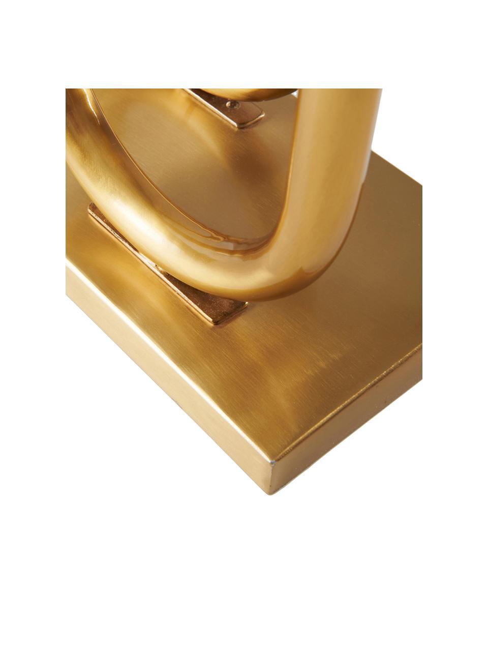 Kerzenhalter Bowie, Metall, beschichtet, Goldfarben, 31 x 43 cm