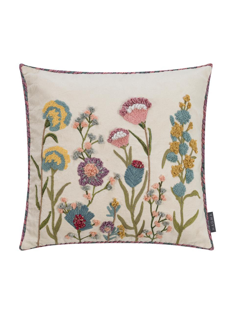 Poszewka na poduszkę Lilotte, Beżowy, wielobarwny, S 50 x D 50 cm