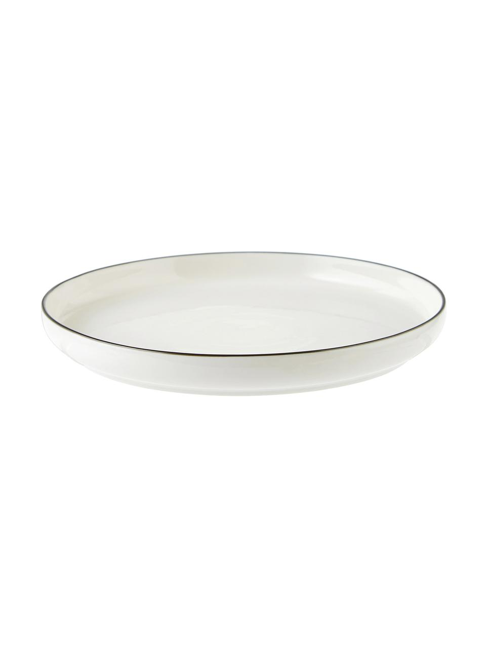 Service de table porcelaine Facile, 6 personnes (18élém.), Noir