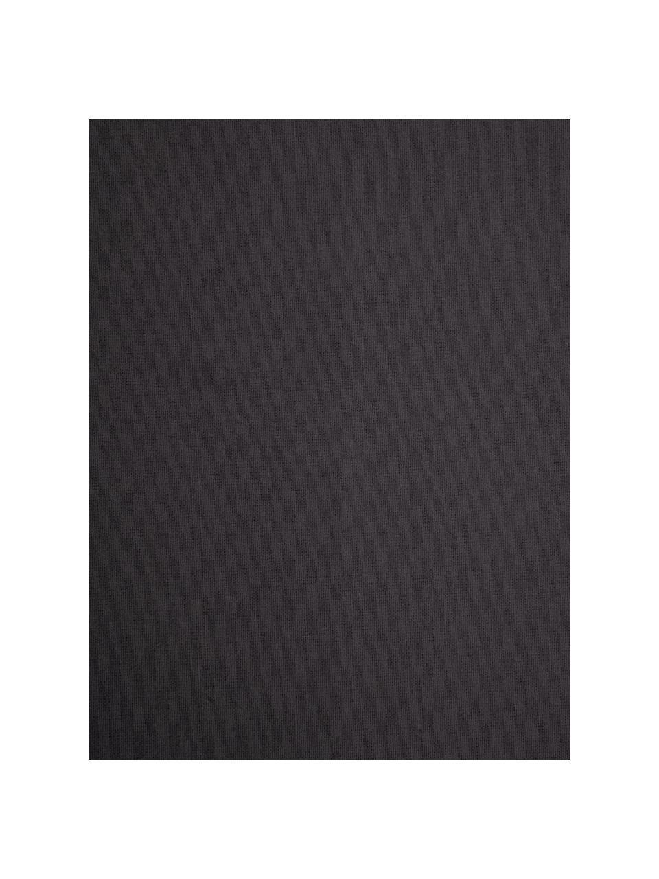 Flanell-Spannbettlaken Biba in Dunkelgrau, Webart: Flanell Flanell ist ein k, Dunkelgrau, 180 x 200 cm