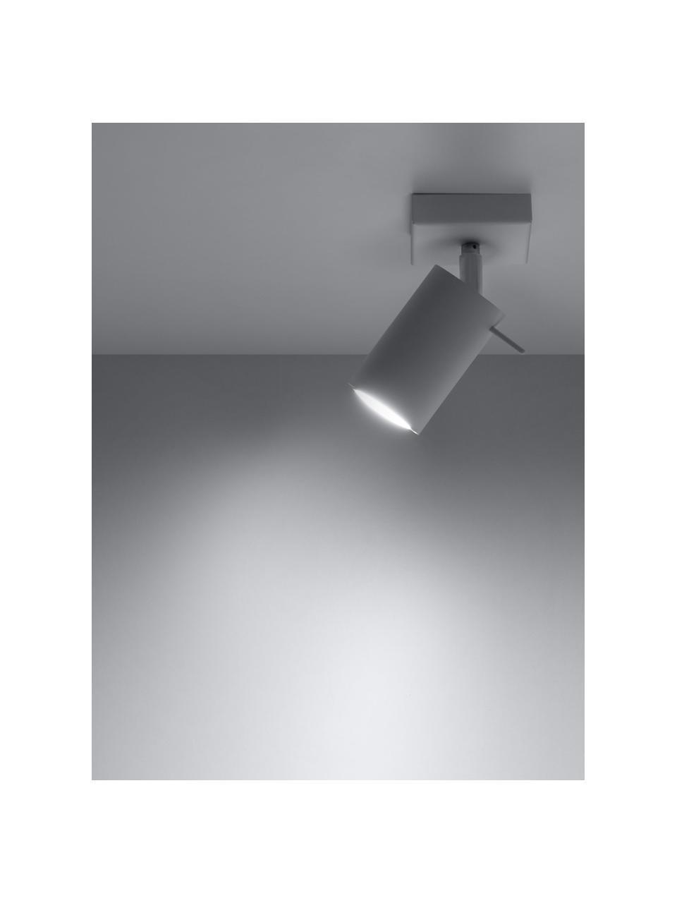 Faretto da soffitto bianco Etna, Paralume: acciaio verniciato, Struttura: metallo, Bianco, Larg. 10 x Alt. 15 cm
