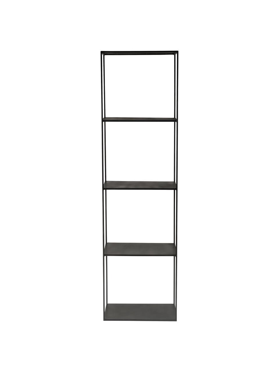 Zwarte metalen wandrek Expo, Gepoedercoat metaal, Zwart, 50 x 180 cm