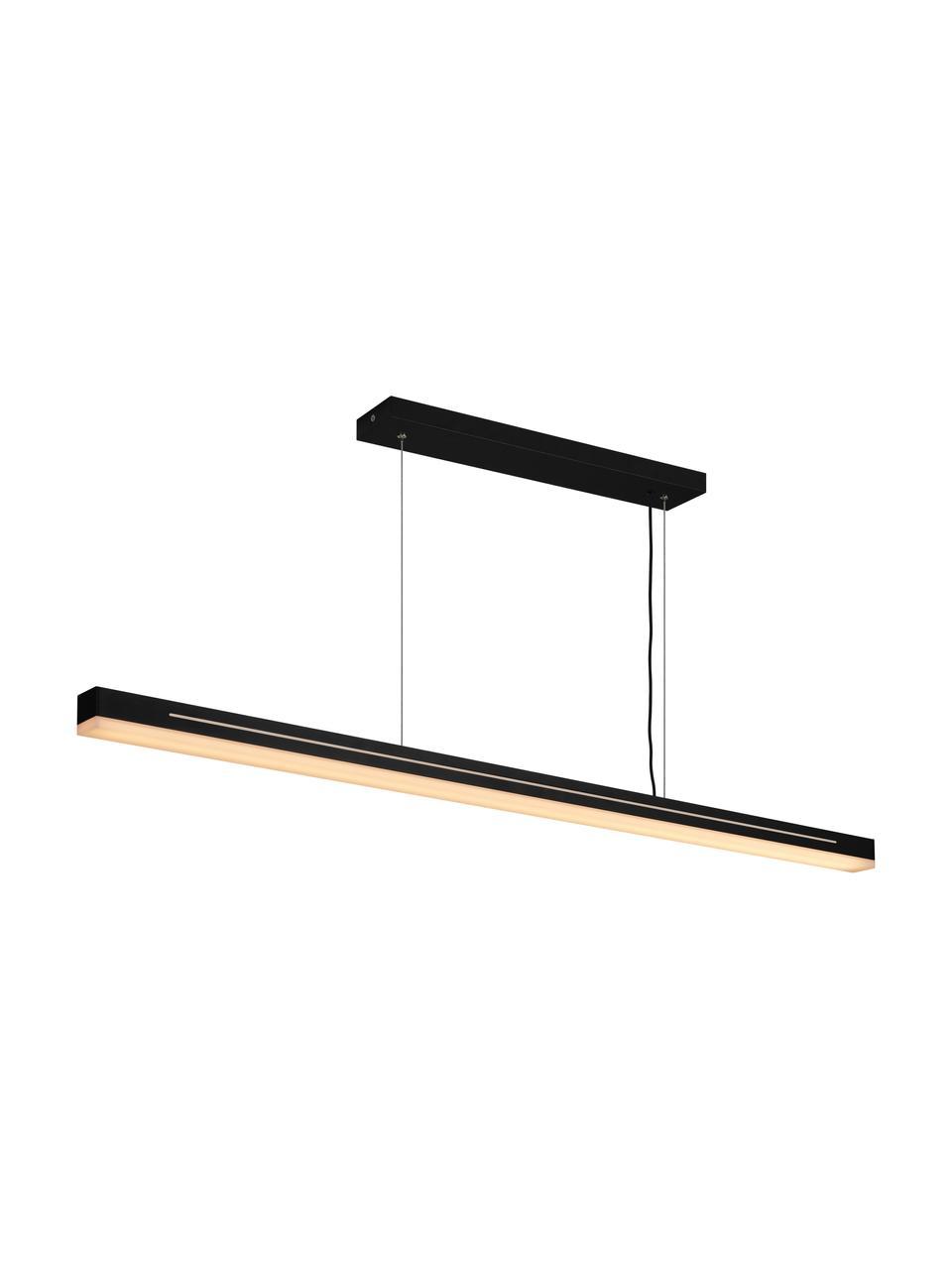 Große LED-Pendelleuchte Skylar in Schwarz, Lampenschirm: Aluminium, beschichtet, Baldachin: Aluminium, beschichtet, Schwarz, 115 x 4 cm