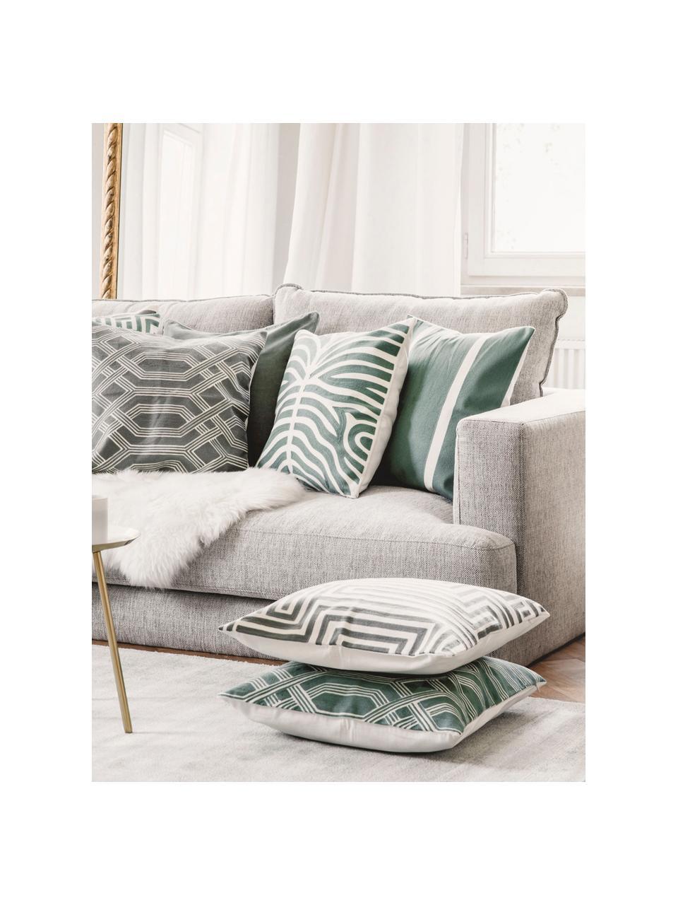 Sofa narożna XL Tribeca, Tapicerka: poliester Dzięki tkaninie, Nogi: lite drewno bukowe, lakie, Beżowoszary, S 405 x G 228 cm