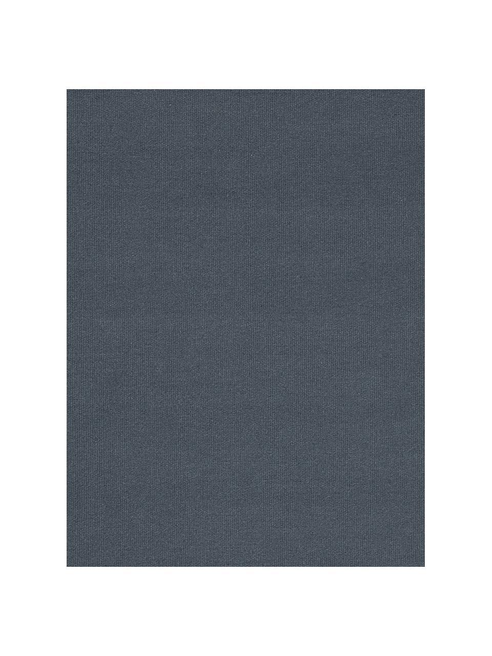 Tappeto Kilim in lana tessuto a mano con frange Rainbow, Frange: 100% cotone Nel caso dei , Blu scuro, Larg. 200 x Lung. 300 cm (taglia L)