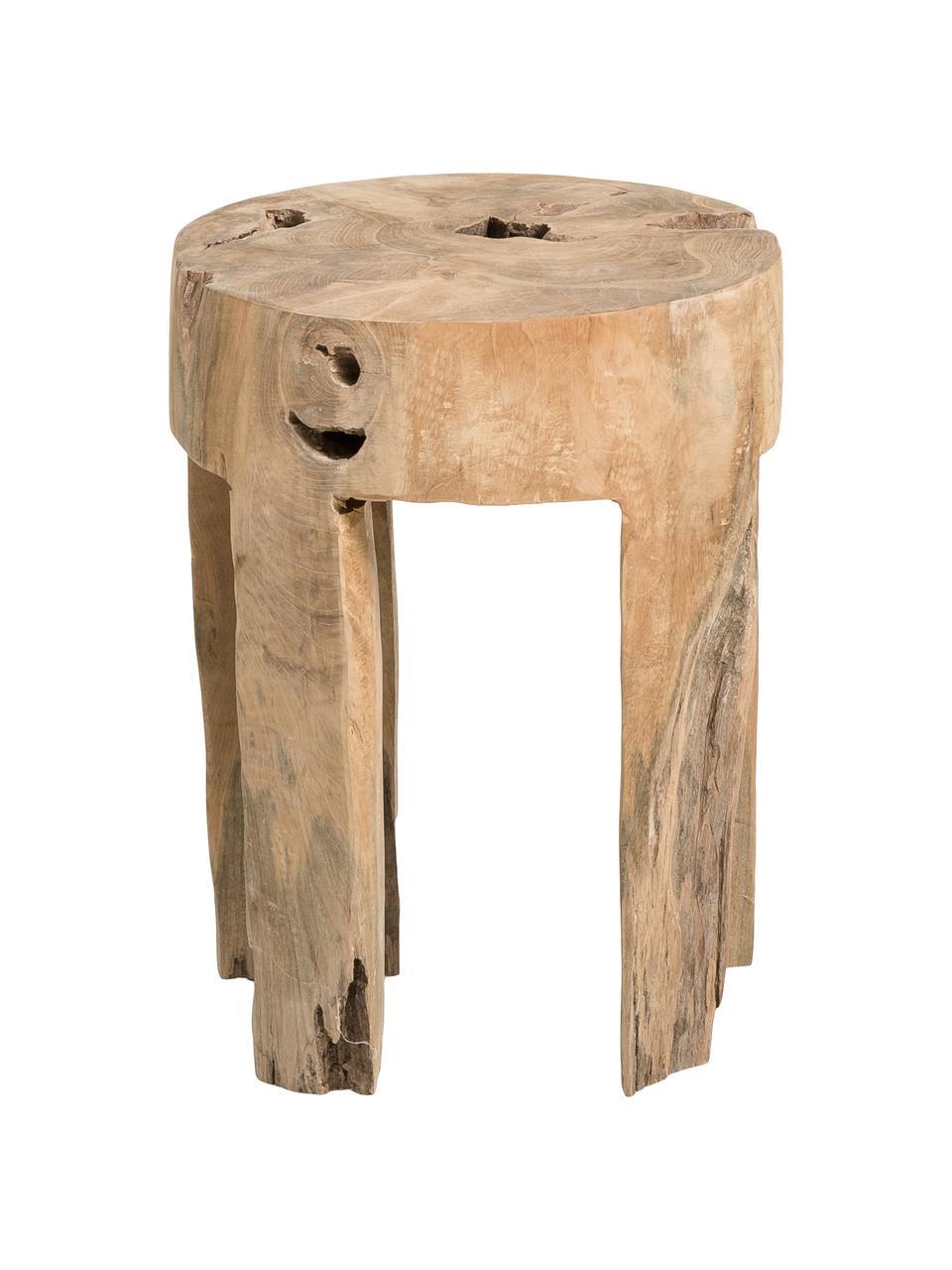 Tabouret en bois de teck Java, Teck