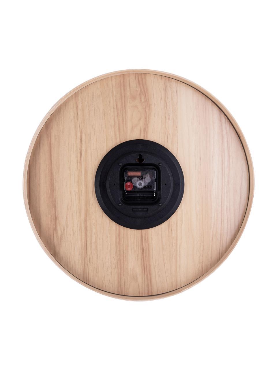 Wanduhr Pure, Holz, lackiert, Weiß, Holz, Ø 40 cm