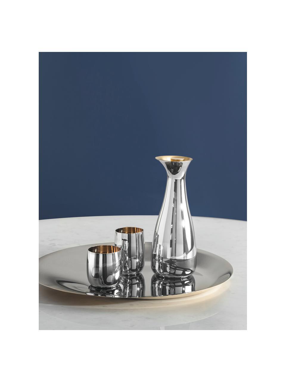 Design Weinbecher Foster in Silber/Gold, Außen: Edelstahl, spiegelpoliert, Innen: Edelstahl mit goldfarbene, Außen: Edelstahl, hochglänzendInnen: Goldfarben, Ø 8 x H 8 cm